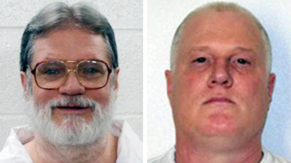 Bruce Ward und Don Davis im Portrait - ihre Hinrichtungen in Arkansas wurde noch einmal gestoppt