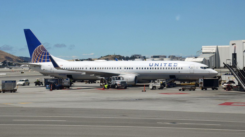 Boeing 737 von United Airlines