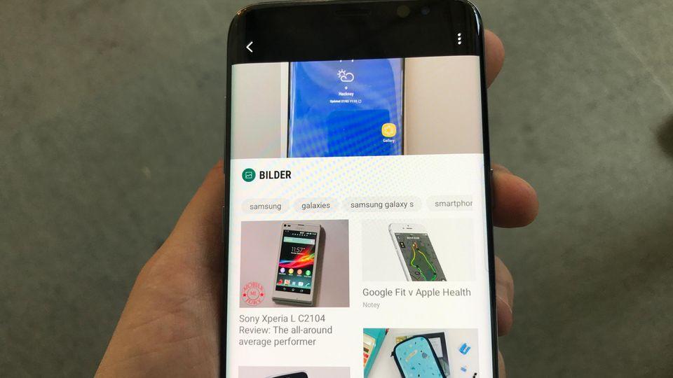 Bixby erkennt ein Galaxy S8 nicht, wenn es vor ihm liegt