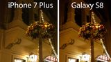 Klarer Punktsieg für das Galaxy S8: Die Schatten und Konturen der Lichter sind hier deutlich besser zu erkennen als beim iPhone 7 Plus.