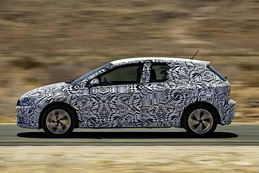 VW Polo VI Prototyp - die Abmessungen sind nahezu identisch zum Vorgänger