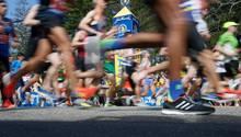 Läufer beim diesjährigen Boston-Marathon