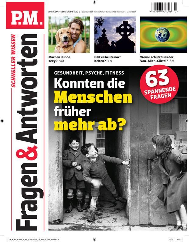 Das Cover der Zeitschrift P.M. Fragen & Antworten im April 2017