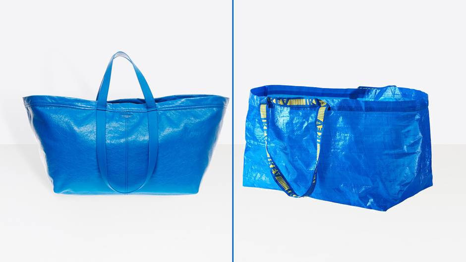 Links die Designer-Version von Balenciaga, rechts die Billig-Version von Ikea