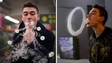 Vape Künstler zeigt was er auf der E-Zigarette kann