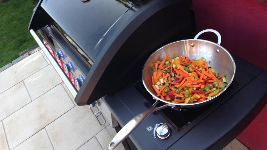 Wok Für Gasgrill : Wok aus stahl mit adapter für gasgrill brÄter v a wokpfanne