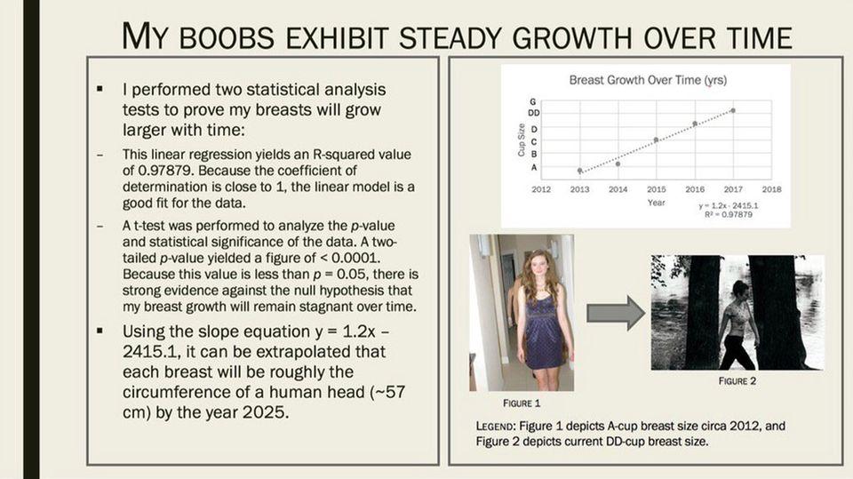 Die Powerpoint-Präsentation von Lizzy Fenton zeigt ein Busen-Diagramm.
