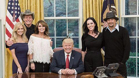 Donald Trump Kid Rock Sarah Palin Ted Nugent