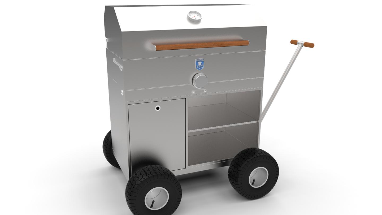 """Wird das Wetter grilltauglich, zieht es Zehntausende in Parks oder an Flussufer, bewaffnet mit Einweggrills oder einem wackligen Dreibein von der Tanke. Auf diesem Billig-Equipment lassen sich nur Würstchen warm machen. Die Alternative für stilvolle """"Outdoor-Griller"""" kommt von der Firma Brennwagen: der Brennwagen GT800. Als Grill-Bollerwagen mit Luftbereifung fallen die 85 Kilo Edelstahl des GT800 kaum ins Gewicht. Beim Preis hingegen dürften viele Gelegenheitsgriller wieder zum Billigdreibein greifen: Rund 2700 Euro sind wahrlich kein Schnäppchen., auch wenn der Brennwagen bei guter Pflege ein ganzes Grillerleben hält."""