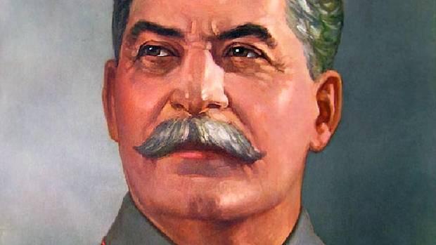 Zu sehen ist ein Propaganda-Plakat Josef Stalins
