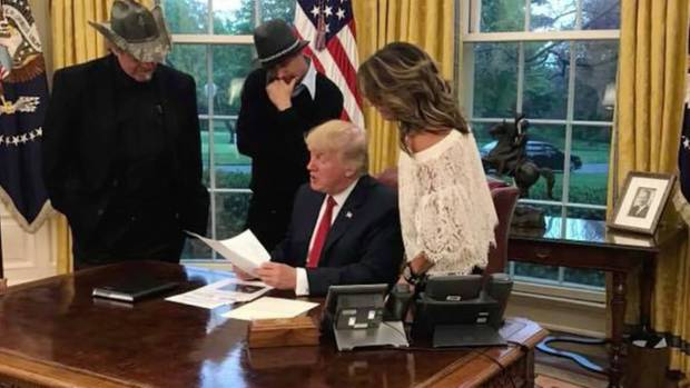 Trump Palin Kid Rock