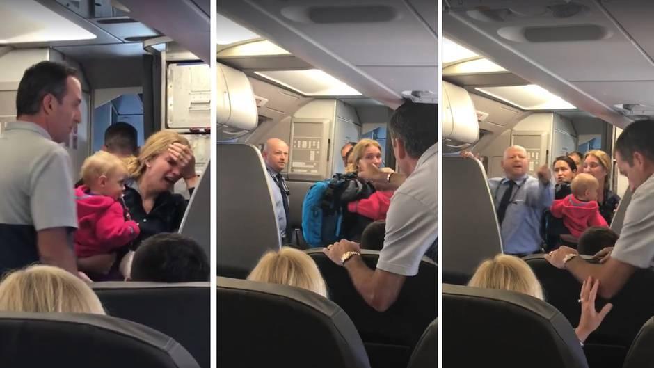 Der Streit eskalierte weiter, als ein Passagier sich einmischte.
