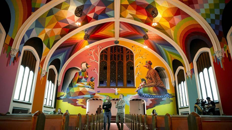 Der Innenraum der Kirche wurde aufwendig gestaltet.