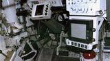 Die Lenkstange des T-14. Die Steuerung erfolgt über Kontroller, die an die Bedienungskonzepte von Spielkonsolen anknüpfen sollen.