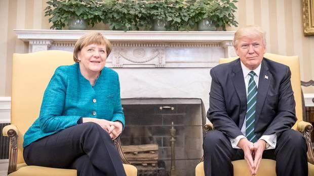 Angela Merkel zu Besuch bei US-Präsident Donald Trump