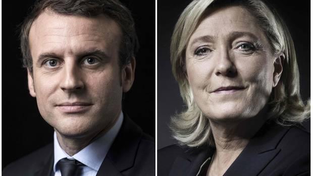 Emmanuel Macron und Marine Le Pen