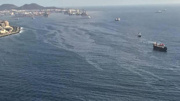Luftaufnahmen zeigen den Ölteppich vor Gran Canaria