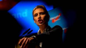 Alice Weidel, Spitzenkandidatin der AfD für die Bundestagswahl