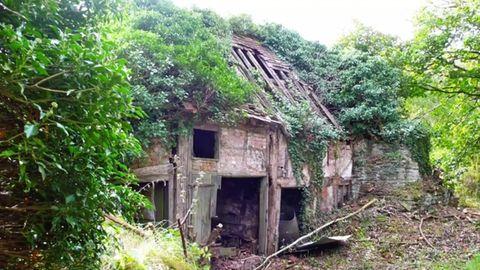 Heruntergekommenes Haus