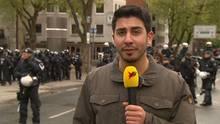 Ali Can am Samstag bei der Großdemonstration anlässlich des AfD-Parteitags in Köln.
