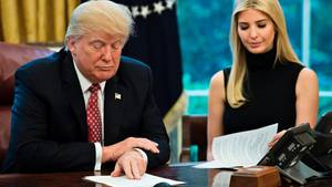 Donald Trump und Ivanka im Weißen Haus