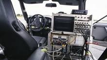 Die Messtechnik füllte das Fahrzeug aus