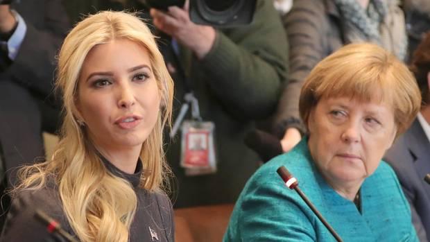 Im März trafen die Kanzlerin und die Präsidententochter bereits in Washington aufeinander