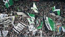 Fans in Mönchengladbach