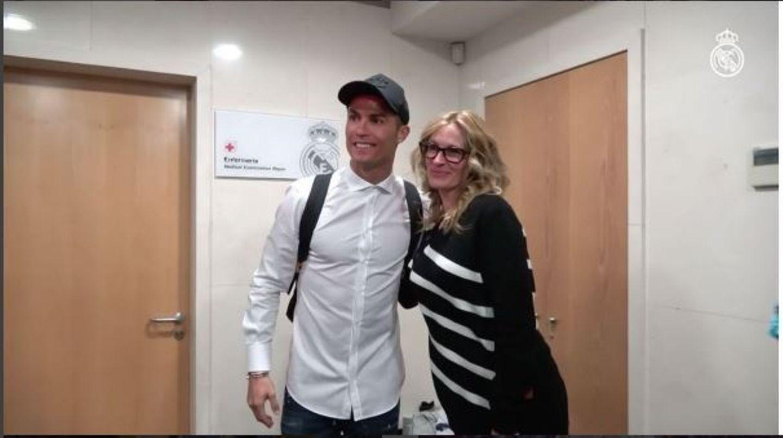 Julia Roberts trifft Cristiano Ronaldo