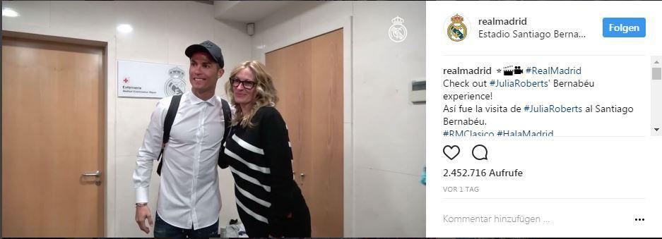 Julia Roberts trifft Cristiano Ronaldo und Lionel Messi | STERN.de