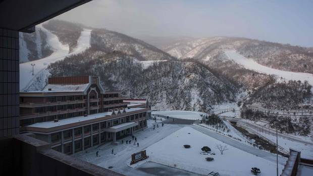 Seltener Luxus in Nordkorea - Vorbild sind Skiresorts in den Alpen.