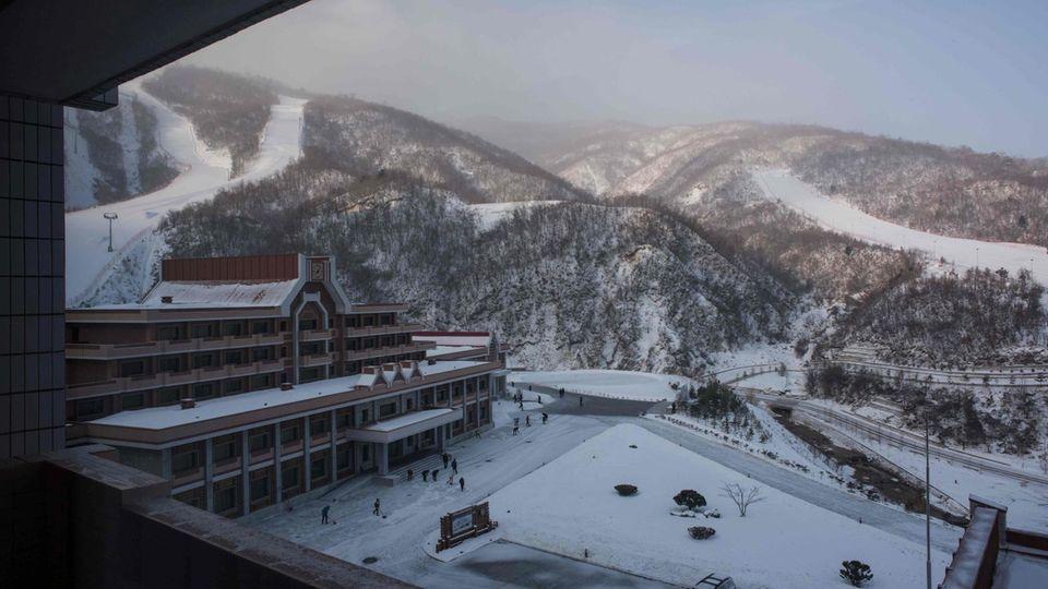 Seltener Luxus in Nordkorea - Vorbild sind Skiresorts in den Alpen.