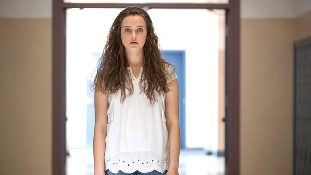 """Hannah Baker, gespielt von Katherine Langford, in der Netflix-Serie """"Tote Mädchen lügen nicht"""" (""""13 Reasons Why"""")"""