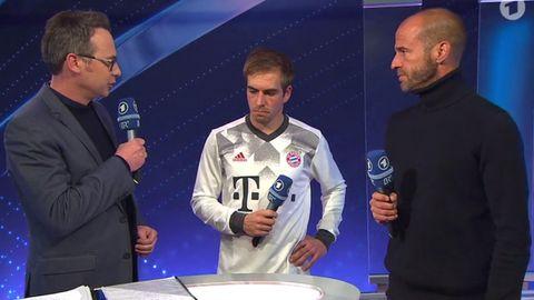 Philipp Lahm nach dem Pokal-Aus im Interview mit Matthias Opdenhövel und Mehmet Scholl