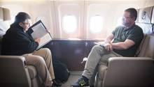 Sigmar Gabriel und Christian Krug im Irak