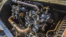 Der Motor des Mercedes Simplex - ein Kunstwerk