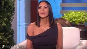 Kim Kardashian in der Show von Ellen DeGeneres