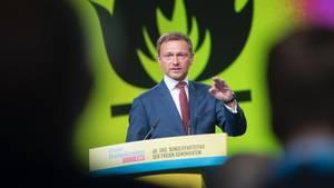 FDP-Chef Christian Lindner auf dem Bundesparteitag