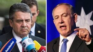 Bundesaußenminister Sigmar Gabriel (l.) und der israelische Ministerpräsident Benjamin Netanjahu
