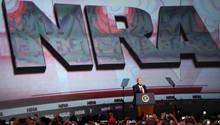 US-Präsident Donald Trump umwarb bei der NRA seine Stammwählerschaft
