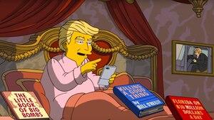 """US-Präsident Donald Trump wie die Macher der """"Simpsons"""" ihn sehen"""