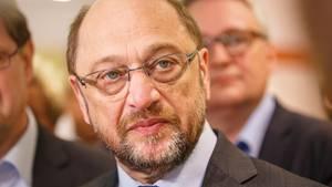 SPD-Kanzlerkandidat Martin Schulz guckt ernst