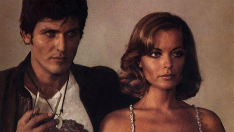 Romy Schneider mit Filmpartner Paolo Giusti
