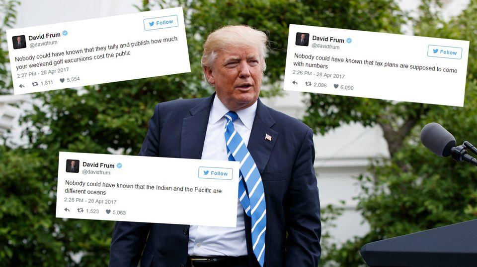 US-Präsident Donald Trump wurde das Ziel einiger spottgeladener Tweets
