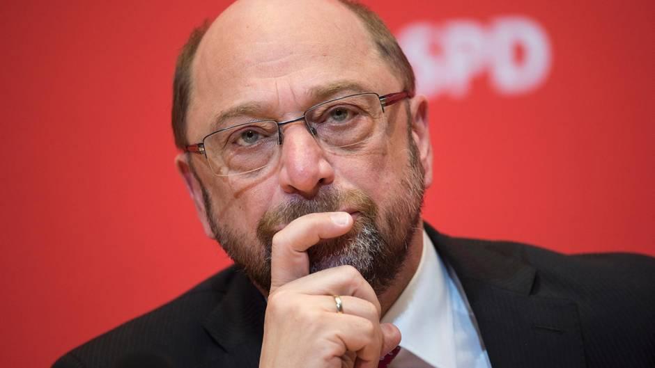 Skeptischer Blick: Martin Schulz, SPD-Kanzlerkandidat