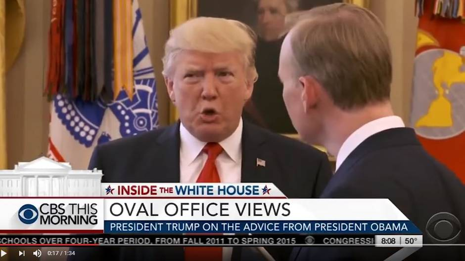 Donald Trump trifft auf CBS-Moderator John Dickerson im Oval Office