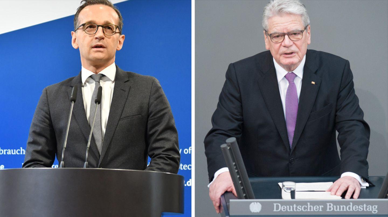 Franco A. soll Heiko Maas (l.) und Joachim Gauck im Visier gehabt haben