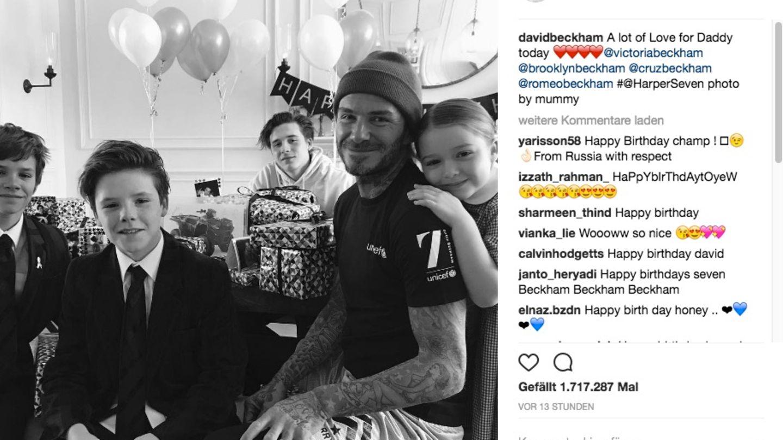 David Beckham feiert seinen Geburtstag umringt von seinen Kindern