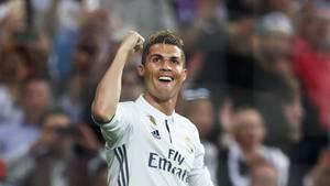 Gegen Atlético Madrid kam Ronaldo kaum noch aus dem Jubeln heraus