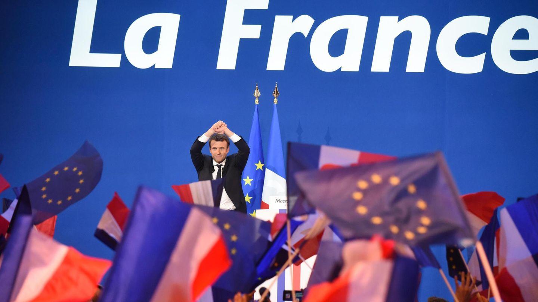 Emmanuel Macron lässt sich feiern